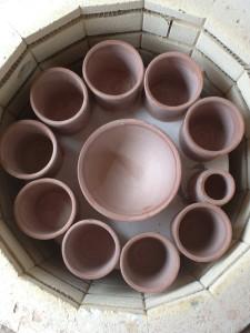 I didn't have any clay so I loaded a glaze kiln