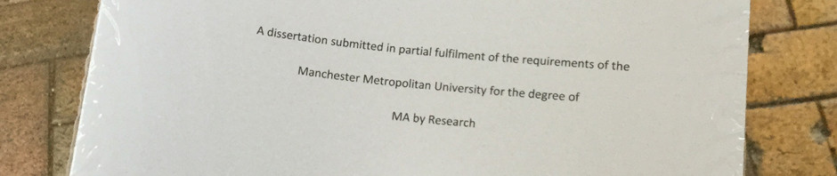 handing in my research project