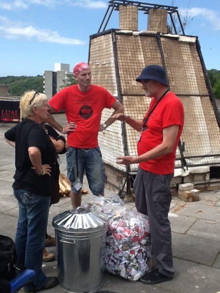 Peter organising the Lual Firing