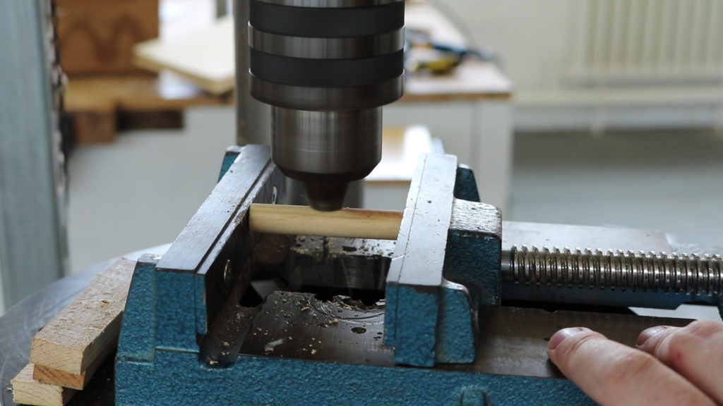 a drill press means I don't have to hold the handle and the drill at the same time